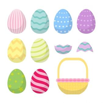 Leuke konijn pasdag eierstel kleurvol