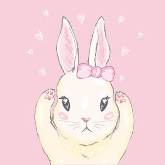 Leuke konijnillustratie