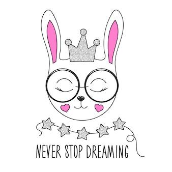 Leuke konijntjesillustratie.