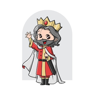 Leuke koning cartoon