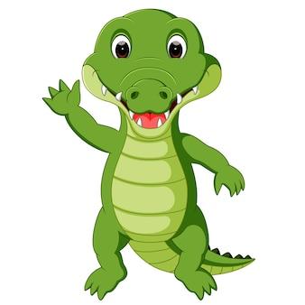 Leuke krokodil cartoon