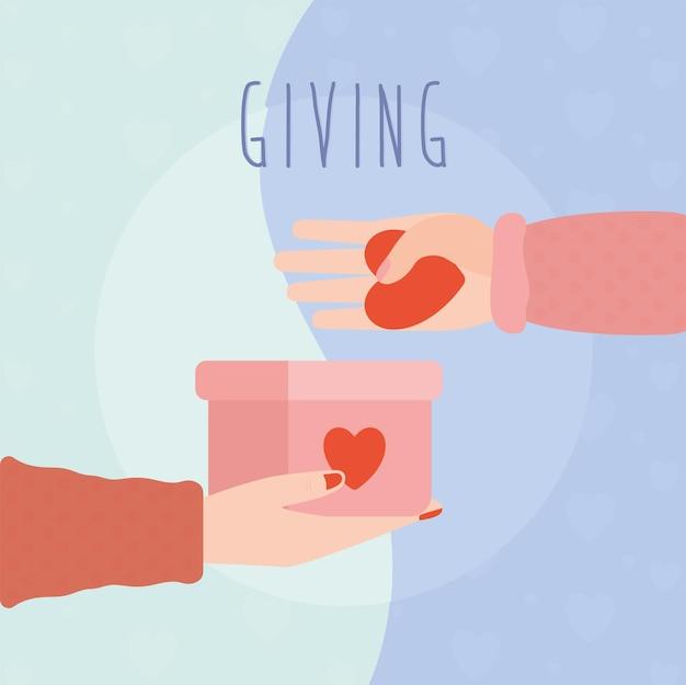 Leuke liefdadigheidsillustratie met items