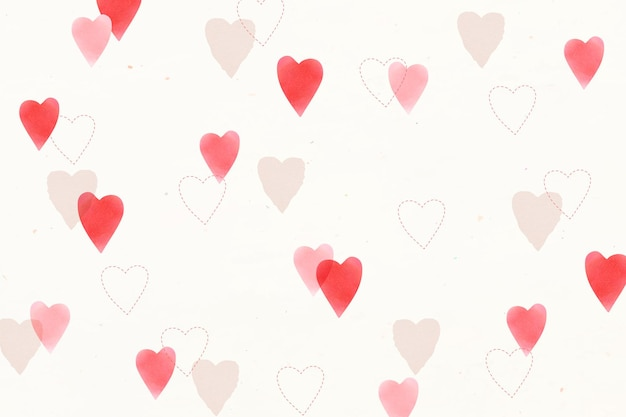 Leuke liefde patroon achtergrond
