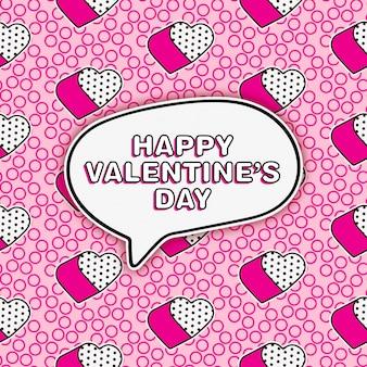 Leuke lol de groet van de popstijl voor de dag van de valentijnskaart