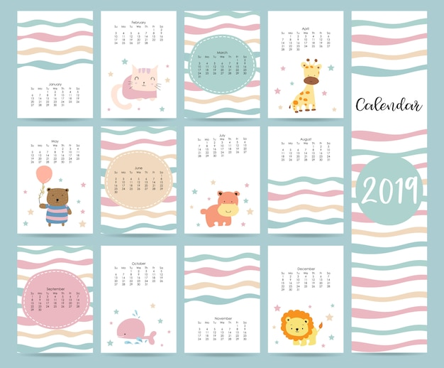 Leuke maandelijkse kalender