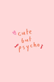 Leuke maar psychotypografie op een roze achtergrond