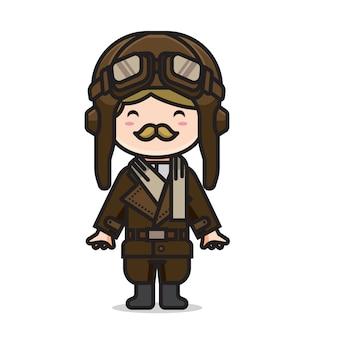 Leuke man vintage piloot