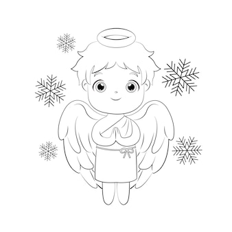 Leuke mannelijke engel voor kerstversiering