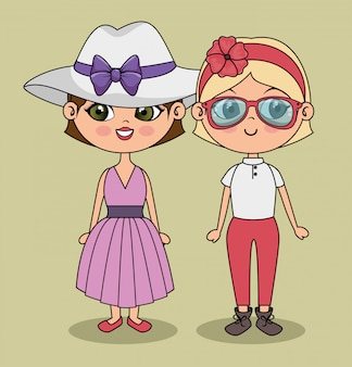 Leuke meisjes stijlvol modern