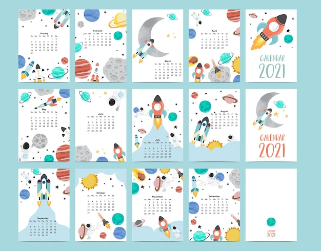 Leuke melkwegkalender 2021 met astronaut