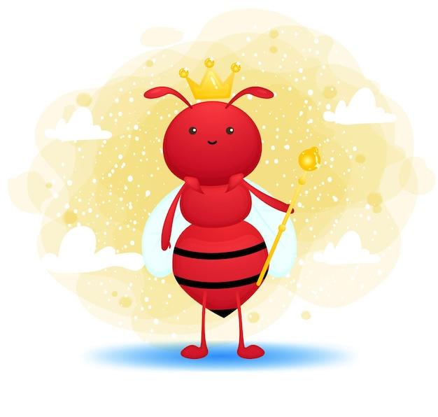 Leuke mier die koningskroon draagt
