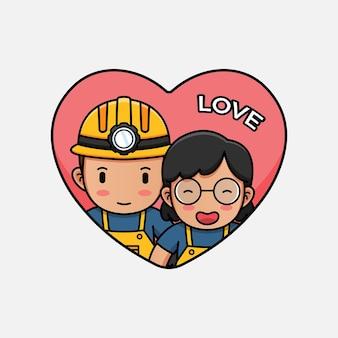 Leuke mijnwerker op valentijnsdag