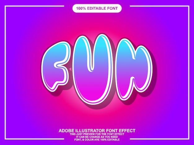 Leuke moderne bewerkbare illustrator teksteffect grafische stijl