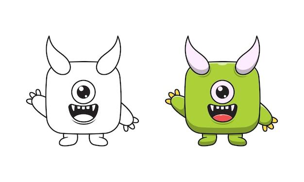Leuke monster cartoon kleurplaten