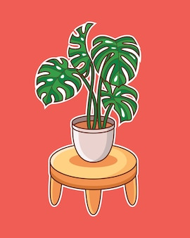 Leuke monsterablad plant
