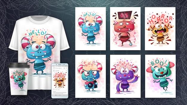 Leuke monsters poster en merchandising