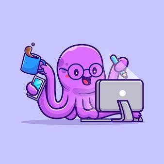 Leuke octopus multitasking