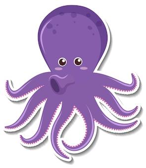 Leuke octopus stripfiguur sticker