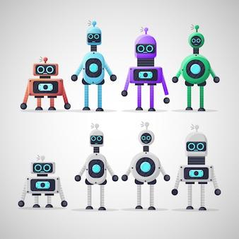 Leuke ontwerp robot karakterverzameling