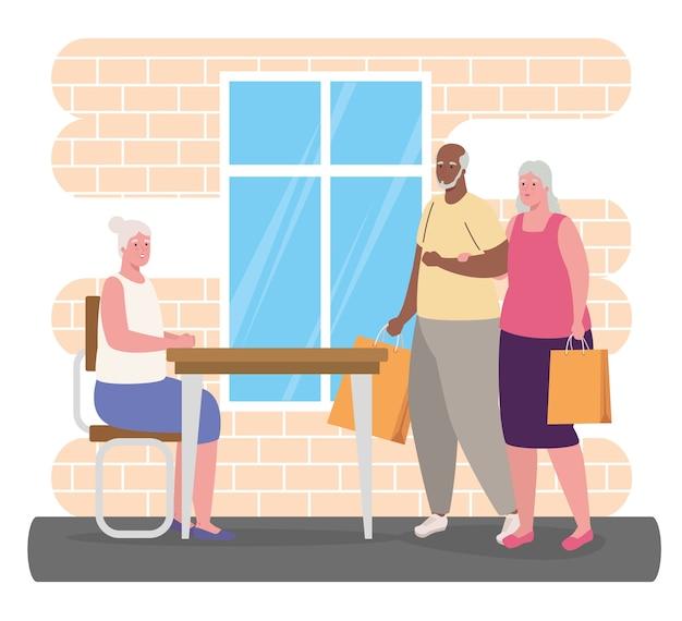 Leuke oude mensen die activiteiten binnenshuis doen
