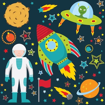 Leuke outer space collection set