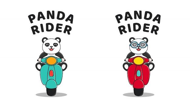 Leuke panda ride scooter