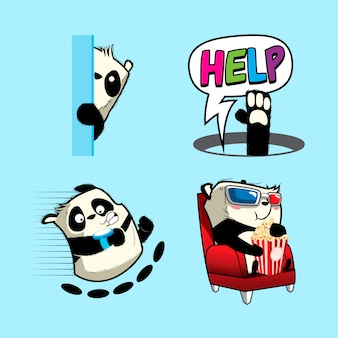 Leuke panda sticker, panda patches