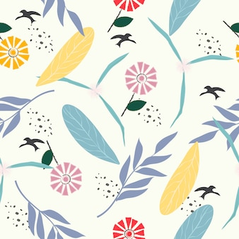 Leuke pastel bloemen naadloze patroon achtergrond