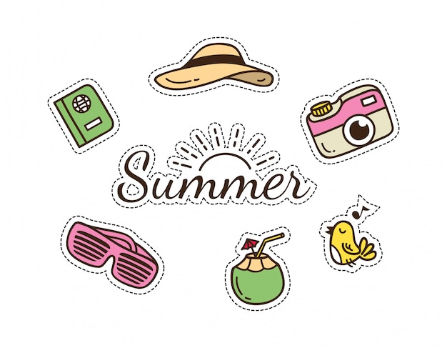 Leuke patch met zomer- en reisthema