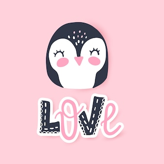 Leuke pinguïn illustratie. grappig cartoon dier.