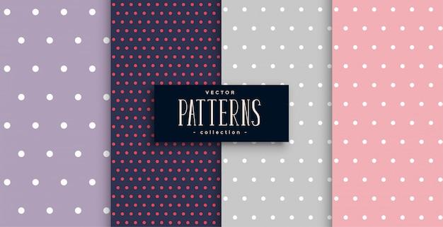 Leuke polks dots patronen set van vier