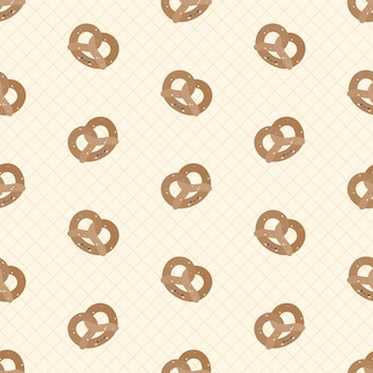 Leuke pretzels naadloos patroon