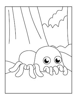 Leuke printbare spin kleurplaten voor kinderen