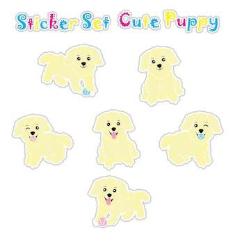 Leuke puppysticker set