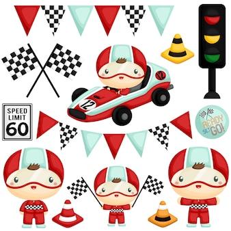 Leuke racer boy