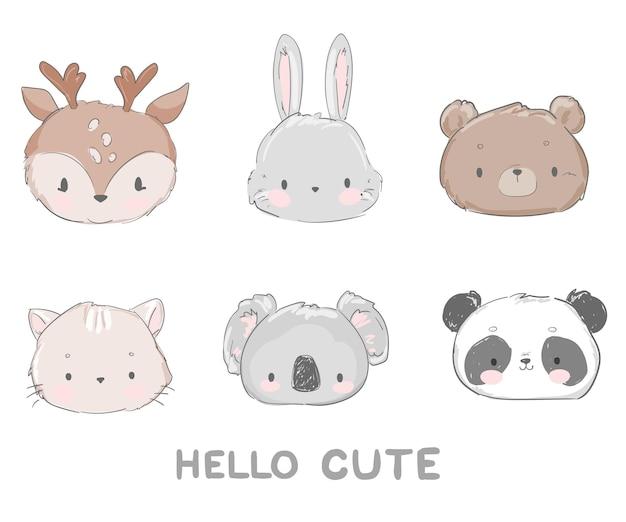 Leuke reeks dieren afbeelding ontwerp
