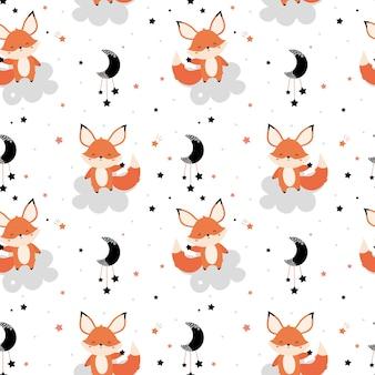 Leuke rode vos met een ster