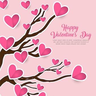 Leuke romantische bloemen de dagachtergrond van de valentijnskaart