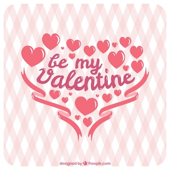 Leuke romantische valentijnskaartachtergrond