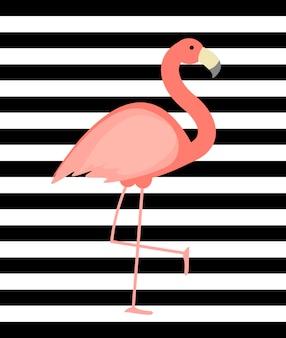Leuke roze flamingo achtergrond