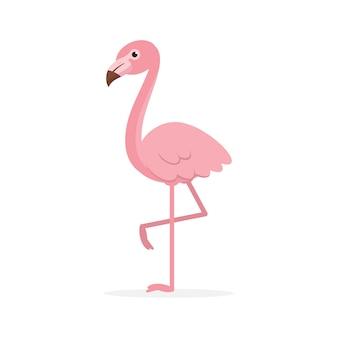 Leuke roze flamingoillustratie