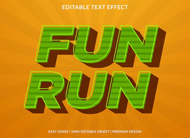 Leuke run retro tekst effect