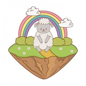 Leuke schapen in het karakter van het gebiedsbos