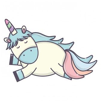 Leuke schattige eenhoorn fairy karakter