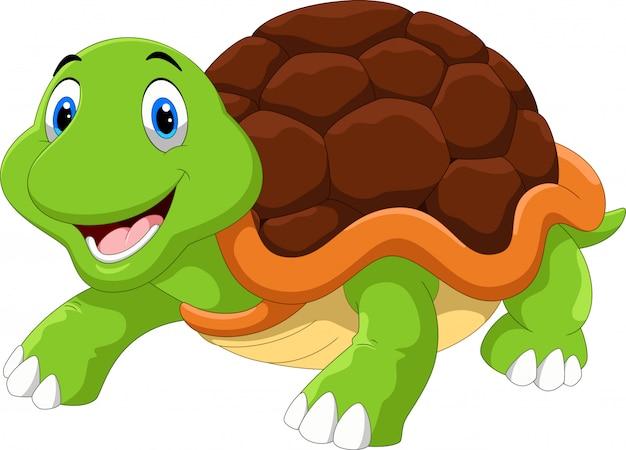 Leuke schildpad cartoon