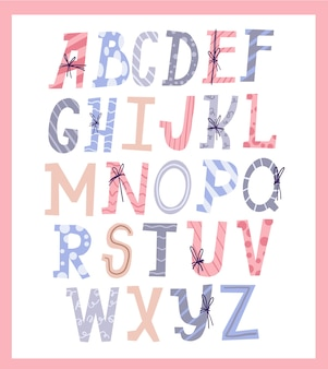Leuke set alfabet kerstcadeau brief typografie stijl ontwerp