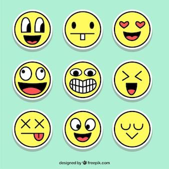 Leuke set emoticons stickers