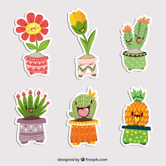 Leuke set planten stickers