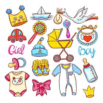Leuke set van verschillende dingen voor kinderen