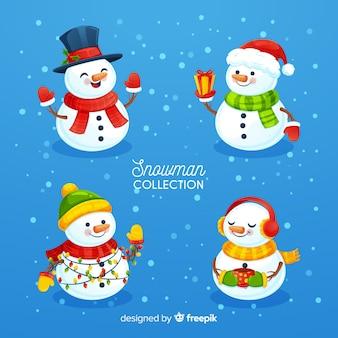 Leuke sneeuwpop karakterset